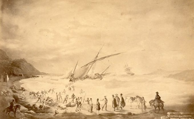 Preview ofShipwreck of the Garibaldi's troop in Baratti 1867